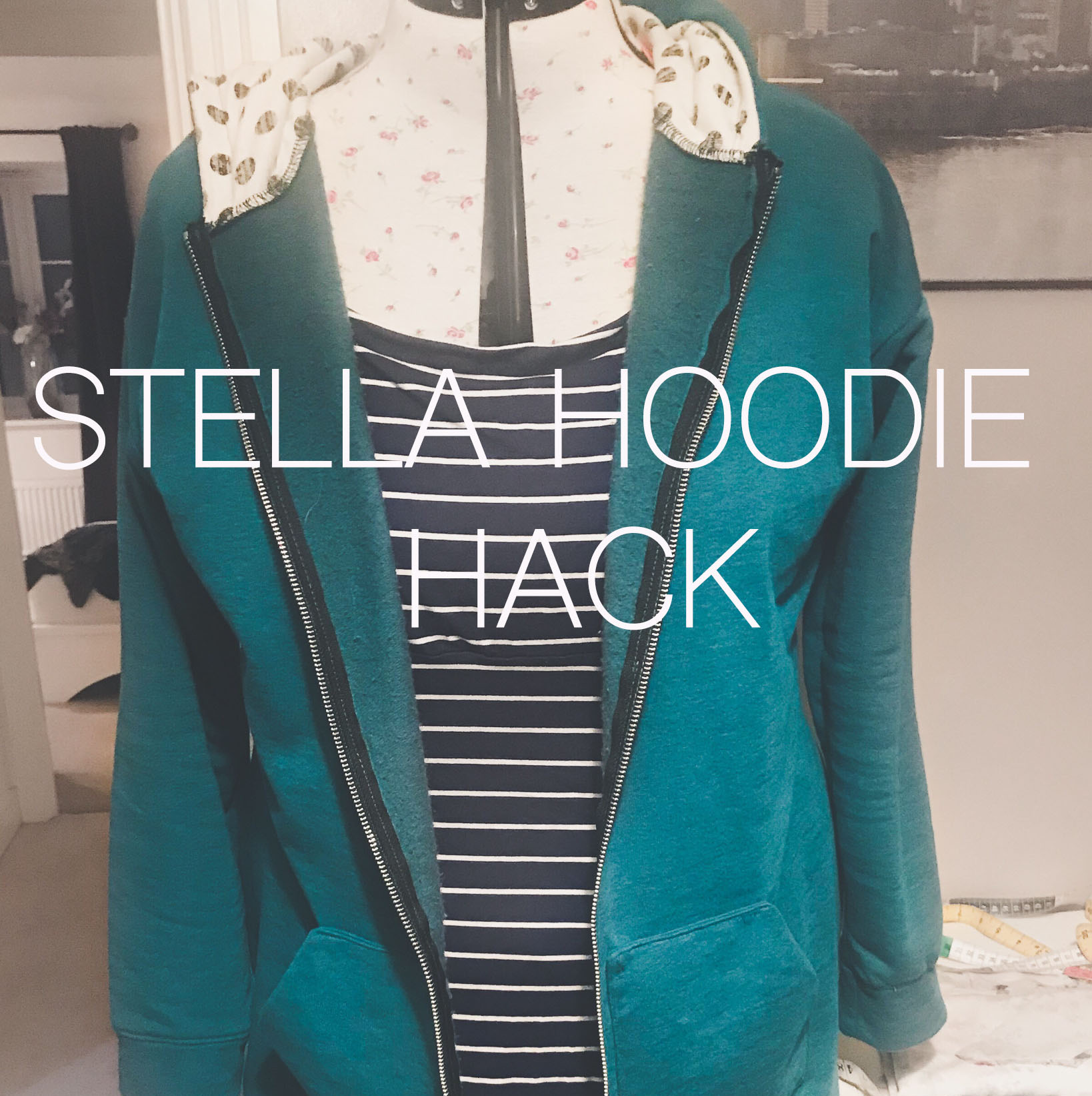 Pattern Hack: Adding a zip and hem cuff to TATB Stella Hoodie