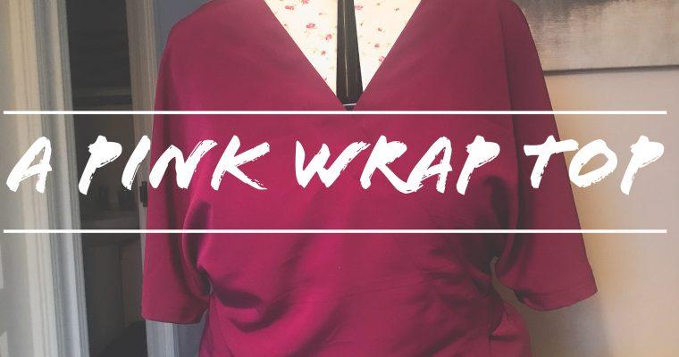 A pink wrap top