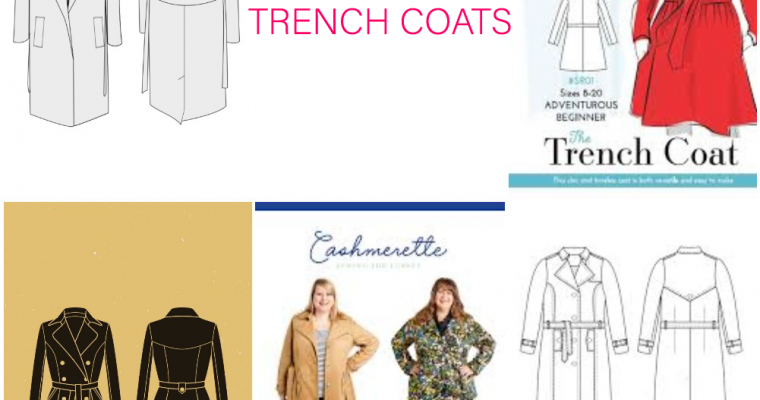 Friday Five!: Trench Coat Sewing Patterns