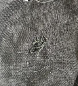 A thread tangle or nest